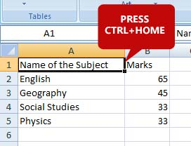 reach-to-first-cell-spreadsheet